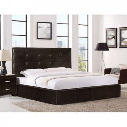 BED 150X200cm BROWN LEATHER...